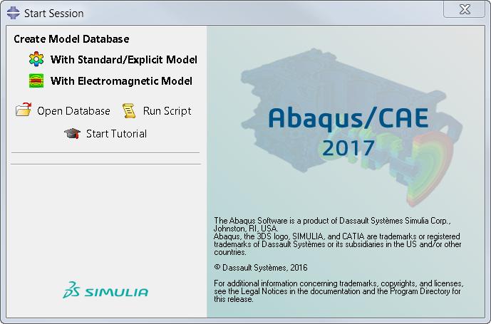 Starting Abaqus/CAE